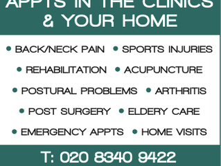 COVID SAFE APPOINTMENTS IN YOUR HOME OR IN THE CLINIC