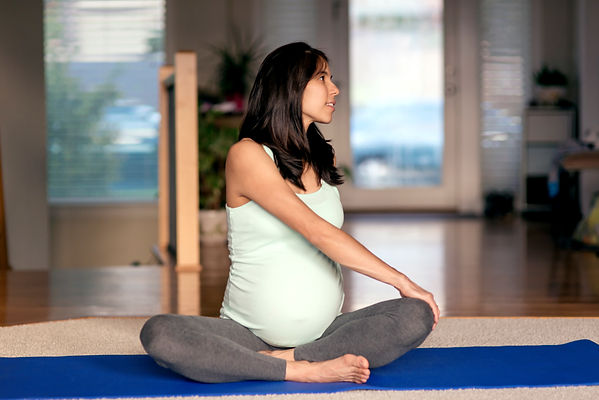Pregnant Woman Staying Fit
