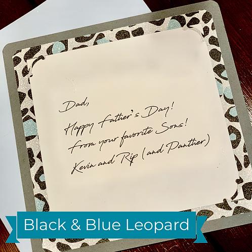 Black & Blue Leopard