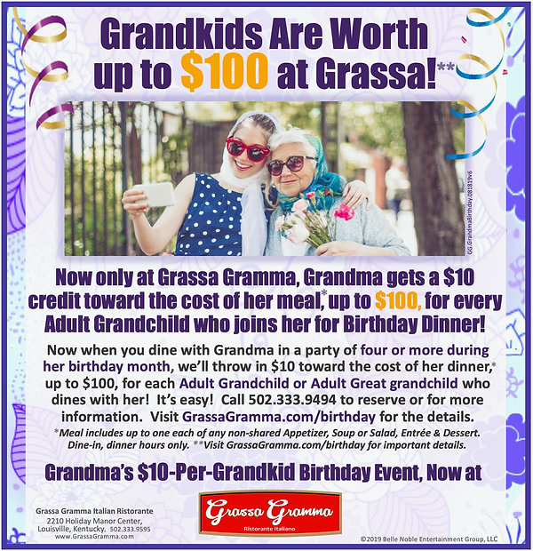 Grassa  Grandma birthday Promotion Ad GG