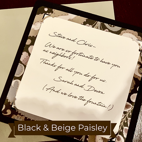 Black & Beige Paisley