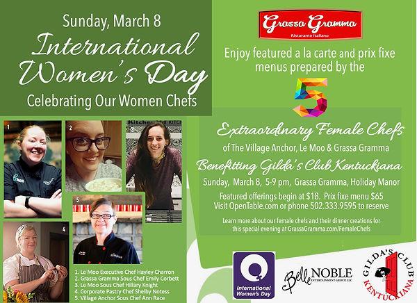 Women chef dinner grassa gilda march 202
