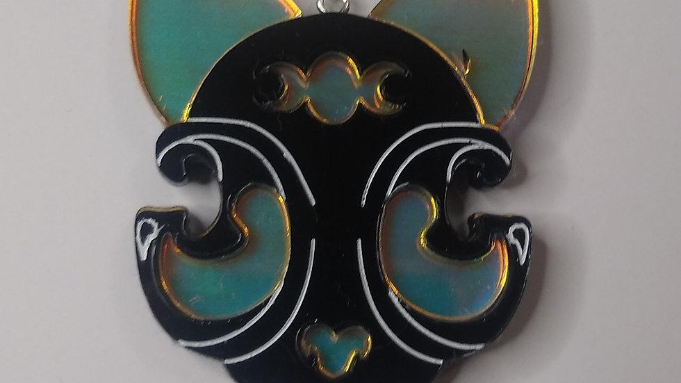 Cosmic Occult black cat pendant