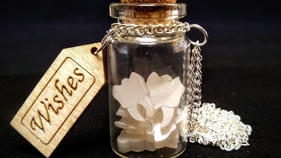Pearl Tooth Fairy Wishes Bottle Necklace