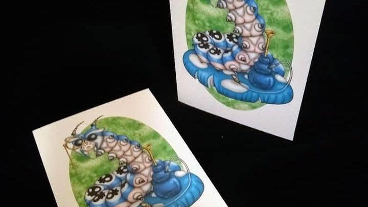 Caterpillar and Hookah Card