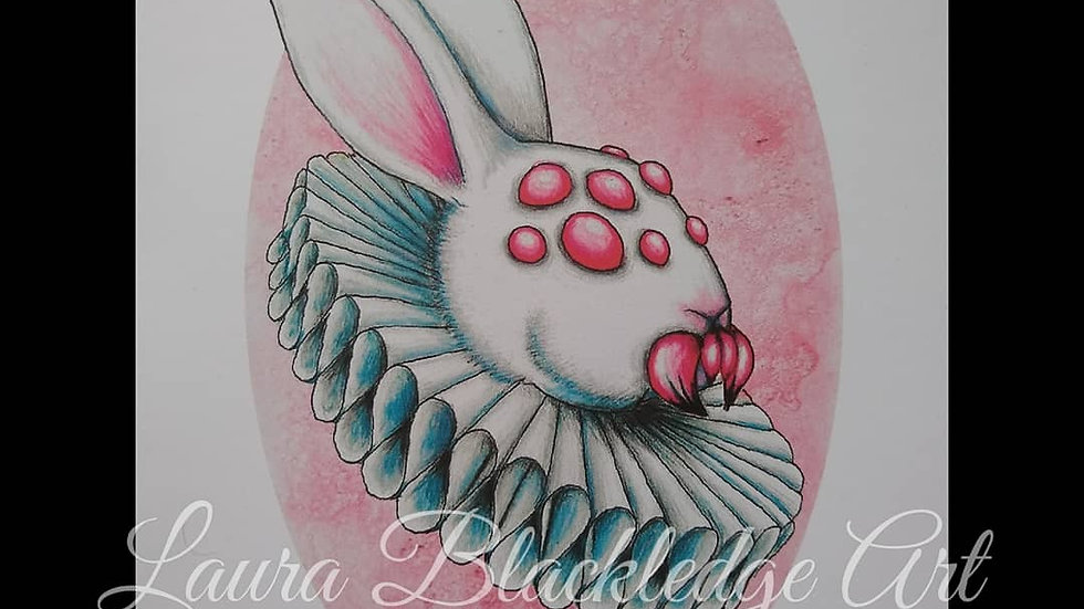 Spider Bunny Print