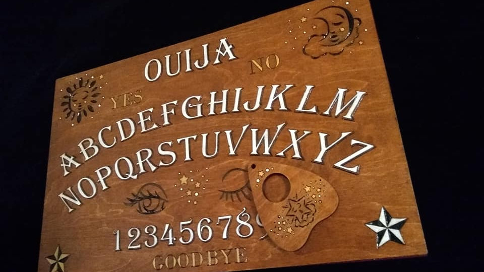 """Sleepy Stars"" Ouija Board and Planchette Wall Hanging"