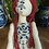 Thumbnail: Beatrice, blue and white china-pattern embroidery tattooed art doll