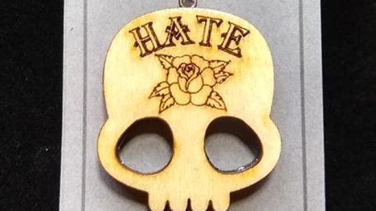 """Hate"" Rose Tattoo Neckace"