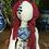 Thumbnail: Brigid, blue and white china-pattern tattooed art doll