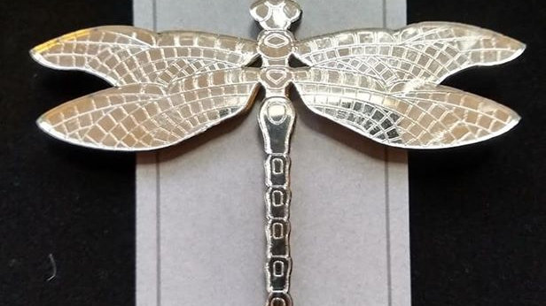 Mirrored Dragonfly Necklace