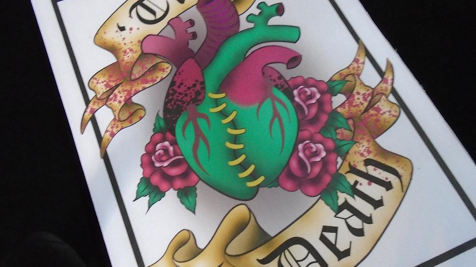 """Til Death"" Heart Print A5"