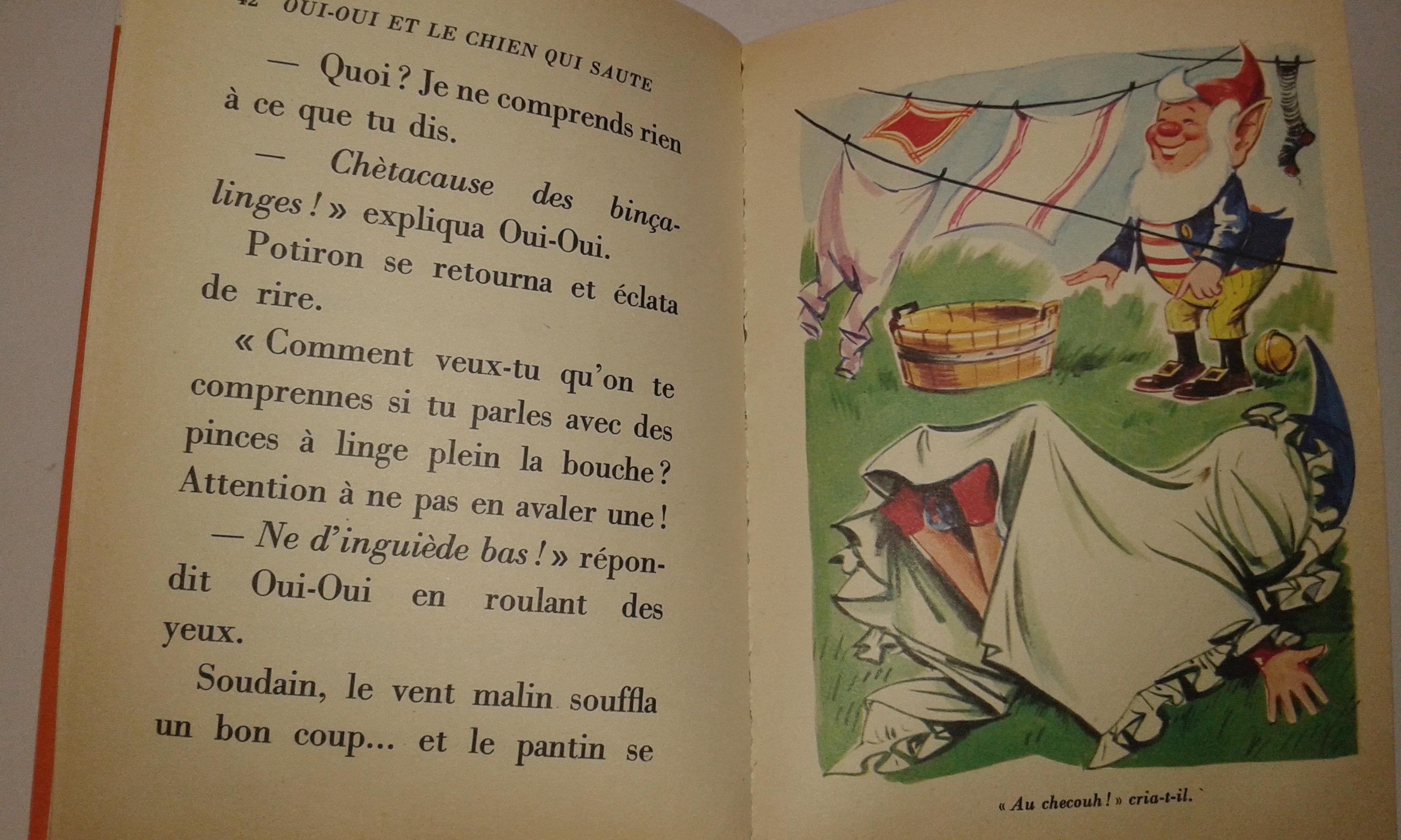 Livre Oui Oui Et Le Chien Qui Saute 1980 Bibliotheque Rose Enid Blyton