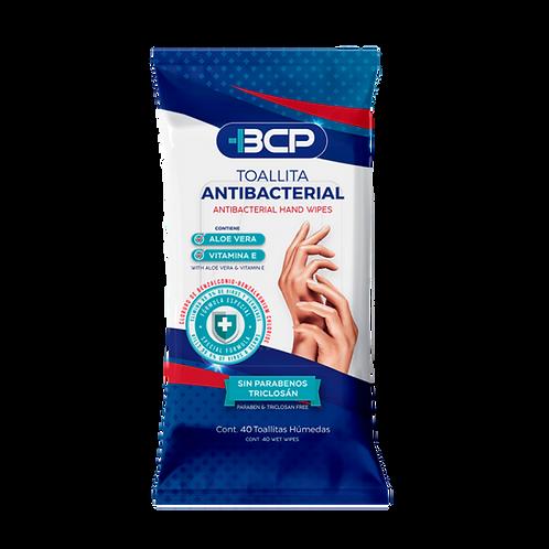 Toallitas húmedas antibacteriales 40 pzs.