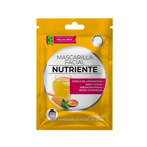 Mascarilla facial nutriente