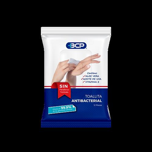 Toallitas húmedas antibacteriales 12 pzs.