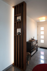 Holztrennwand Präsentation Ineterior Designn