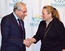 Gaynel and Bob Woodward Shaking Hands