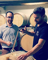 Basile leading a White 2017 barrel tasti