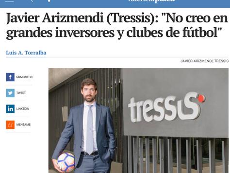 """VALENCIA PLAZA: """"No creo en el binomio grandes inversores y clubes de fútbol"""""""