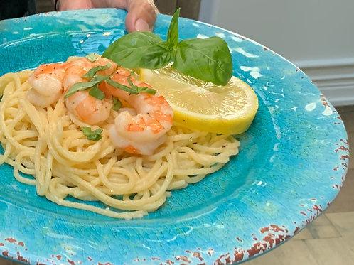 scampi-style shrimp and  linguini