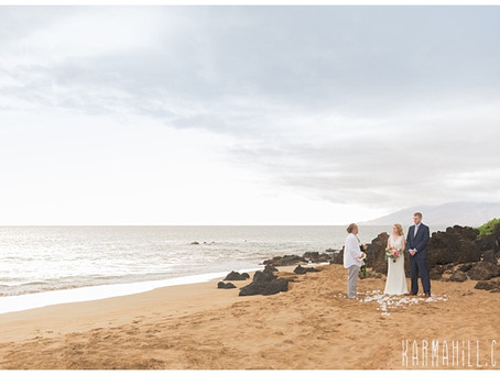 Julia & Brian ~ Married at Po'olenalena Beach