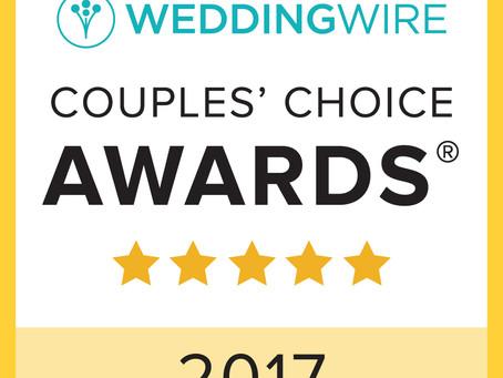 Wedding Wire 2017 Couple's choice Award!