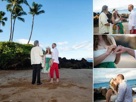 Christina & Alexander ~ Married at Po'olenalena Beach