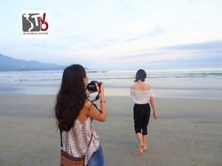 Shooting a video in Da Nang