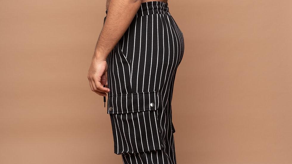 Stripe Cargo Pants