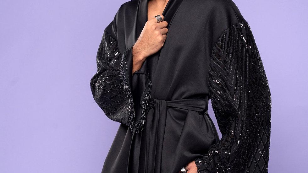 Black Mahogany Kimono Only