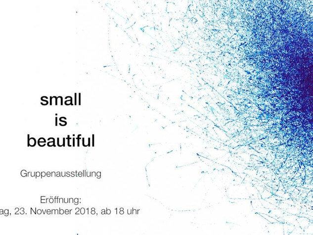 Small is beautiful MIKIKO SATO GALLERY, ( Hamburg, Germany ) 24 November - 19 December 2018