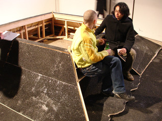 the Christian Dior's Volcanic asphalt wooden bench