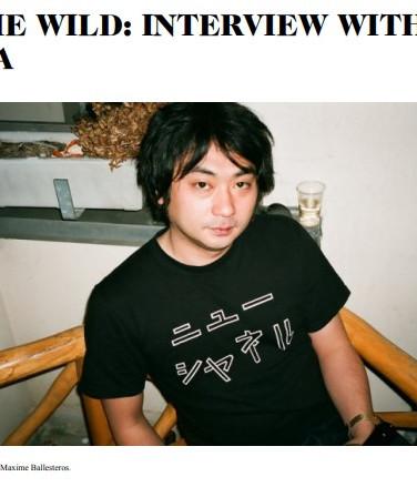 """Interview : Sleek ART """" INTO THE WILD  WITH SHINGO YOSHIDA """""""