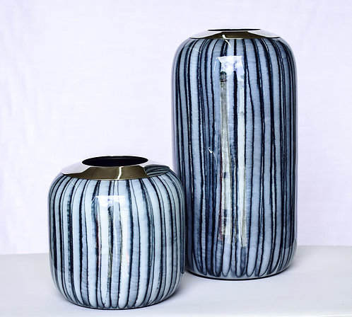 Two-Toned Blue Vases