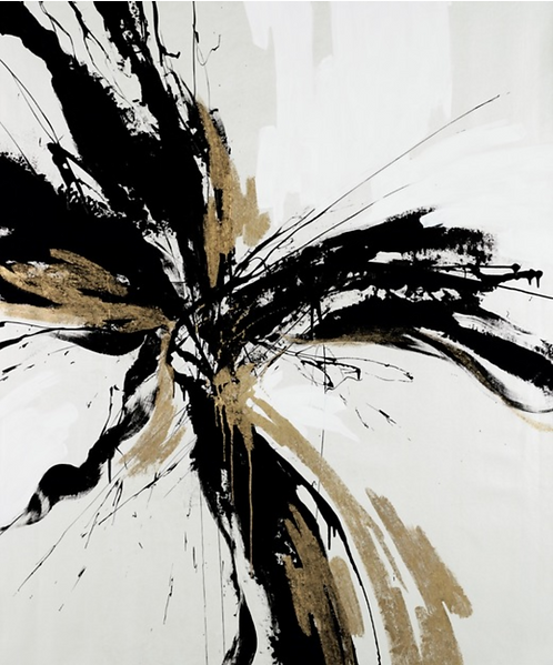 Abstract Black and Gold Artwork