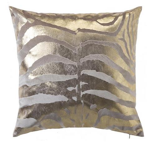 Velvet Pillow with Gold Foil