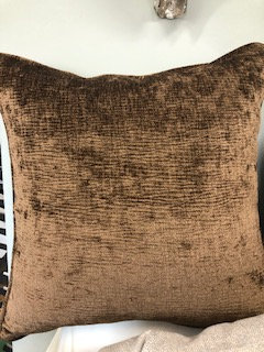 Brown Chenille Pillows - Set of 2
