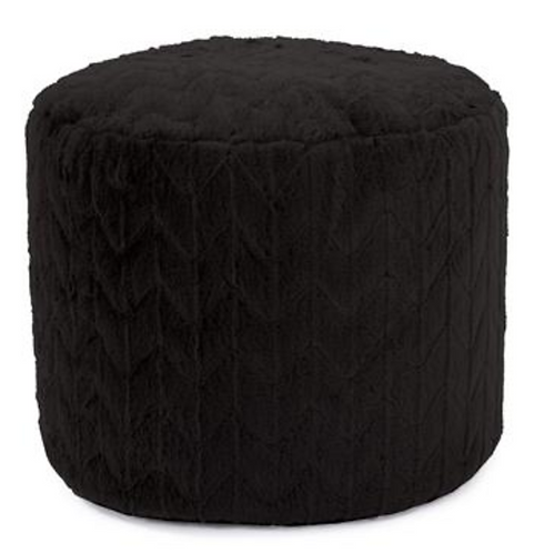 Tall Ebony Pouf