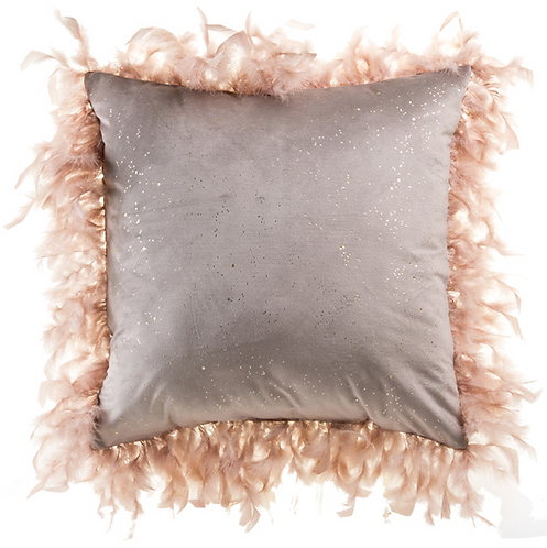 Velvet and Feather Pillow