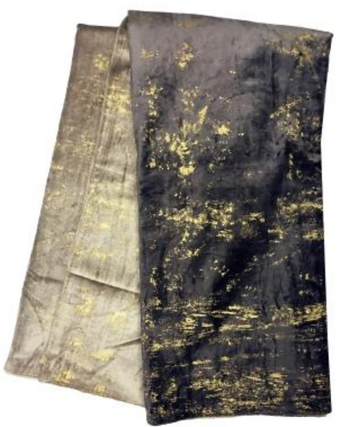 Ombre Throw with Gold Foil