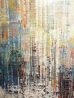 Zhou's Burst  Orginal Oil Painting.