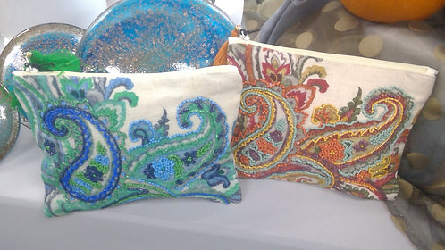 multi color beaded make up bags
