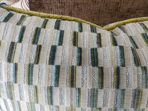 BRIGHT COLORED Blocked Velvet Pillows