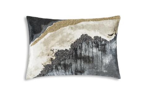 Velvet Pillow with Beading