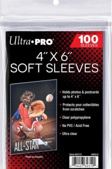 "Ultra Pro 82319 4""x 6"" Soft Sleeves"