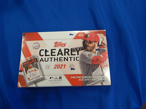 2021 Topps Clearly Authentic Box