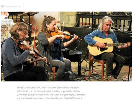 Le Télégramme - Trio Hayes, Leon, Quemener