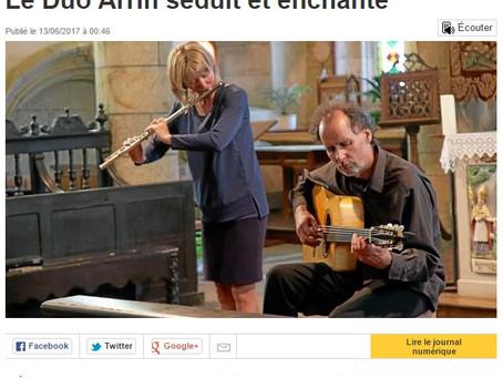 Le duo Arrin à Goulven
