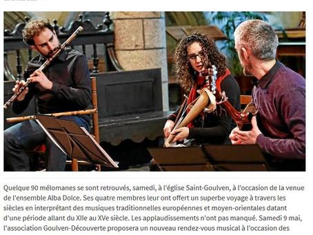 Alba Dolce - Le Télégramme du 23/02/2015